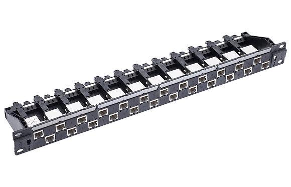 "19"" 1U PC Patch Panel 24xRJ45/s, Cat5e, black, full - P/N 812468 / Matrix Global Networks"