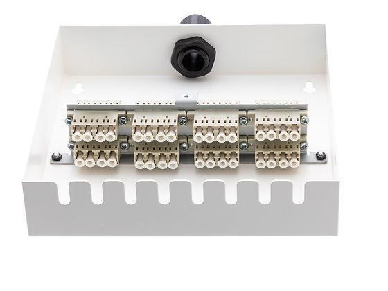 Tamper-Resistant Wall Box - 32 Fibre LC Quad Adaptors / Matrix Global Networks