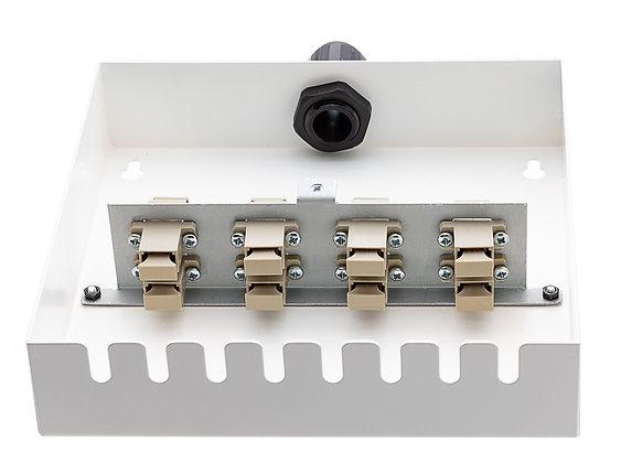 Tamper-Resistant Wall Box - 8 Fibre SC Simplex Adaptors / Matrix Global Networks