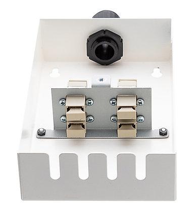 Tamper-Resistant Wall Box - 4 Fibre SC Simplex Adaptors / Matrix Global Networks