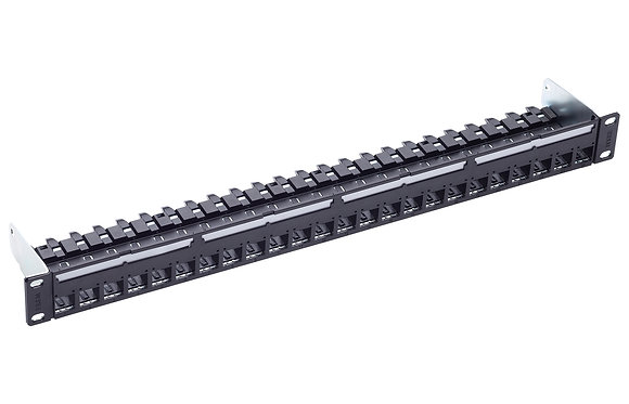 "19"" 1U PC Patch Panel 24-Port/s, Cat6A, black, empty - P/N 813483 / Matrix Global Networks"