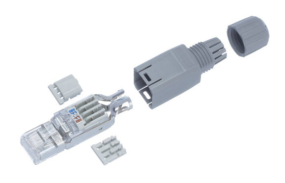 Plug FM45 Cat.5e shielded or unshielded AWG 22 to 23 IP20 568A/B plastic housing R&M - P/N 510667