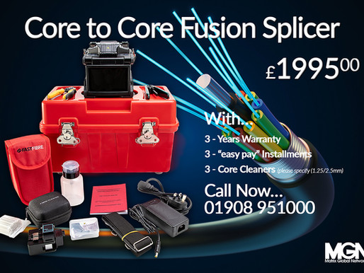 """Fusion Splicer with """"easy pay"""" options ..."""