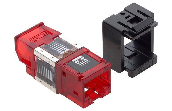 Connection Module Cat6A, 1xRJ45/u, Snap-in, black, 24x - P/N 511998 / Matrix Global Networks