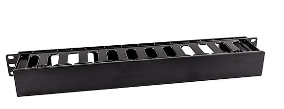 1U Cable Management Plastic Dump Panel - Closed | Matrix Global Networks