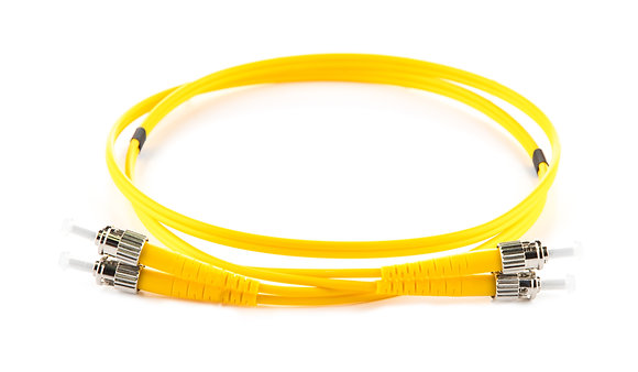 OS2 9/125 ST-ST Duplex Fibre Optic Patchcord