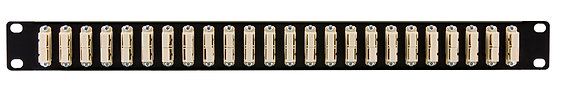 1U Black Front Panel - up to 48 Fibres SC