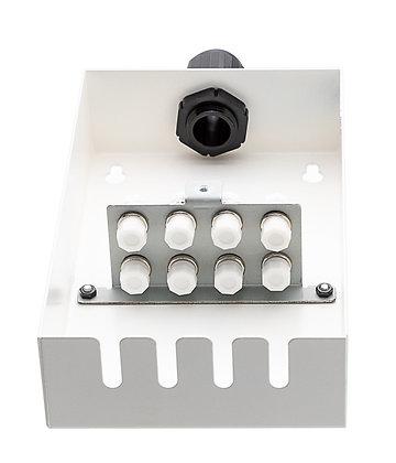 Tamper-Resistant Wall Box - 8 Fibre - FC Adaptors / Matrix Global Networks