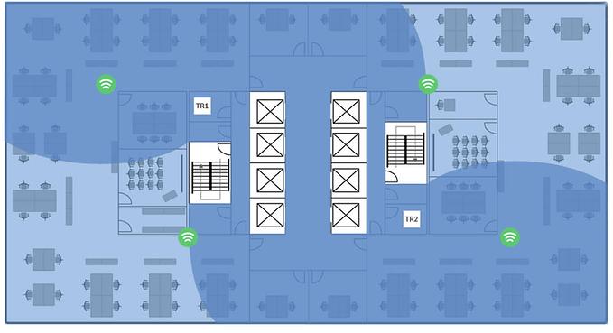 Cat 8.1 Two Telecom Rooms