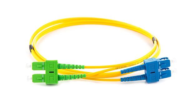 OS2 9/125 SC/APC-SC Duplex Fibre Optic Patchcord