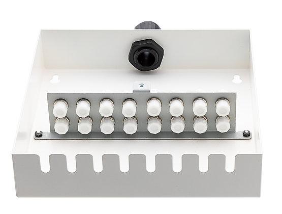 Tamper-Resistant Wall Box - 16 Fibre FC Adaptors - Matrix Global Networks