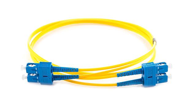 OS2 9/125 SC-SC Duplex Fibre Optic Patchcord