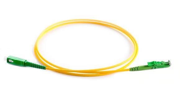 OS2 9/125 E2000/APC-SC/APC Simplex Fibre Optic Patchcord