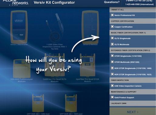Fluke Versiv Kit configurator...