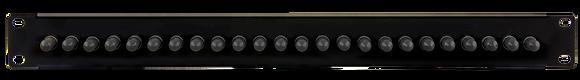 1U Black Front Panel - up to 24 fibres ST Multimode