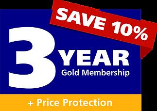 3 Year Gold Membership