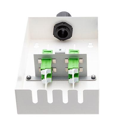 Tamper-Resistant Wall Box - 4 Fibre E2000 Adaptors / Matrix Global Networks