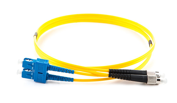 OS2 9/125 FC-SC Duplex Fibre Optic Patchcord
