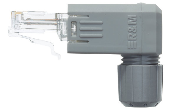 FM45 Cat5e Connector IP20, 4P, TIA 568-A (AWG26-23), angled - P/N 803498 / Matrix Global Networks