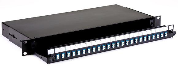 1U Black Sliding Patch Panel - up to 48 fibres LC - Singlemode / Matrix Global Networks