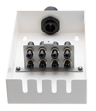 Tamper-Resistant Wall Box - 8 Fibre ST Adaptors / Matrix Global Networks