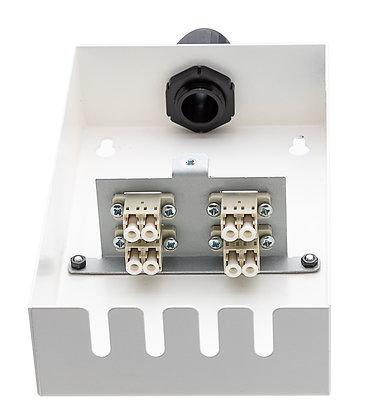 Tamper-Resistant Wall Box - 8 Fibre LC Duplex Adaptors / Matrix Global Networks