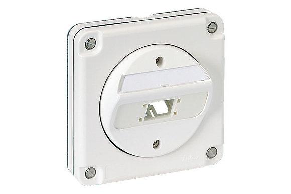 FM Connection Box Splash Line IP54, 1 port 87x87 - P/N 307037