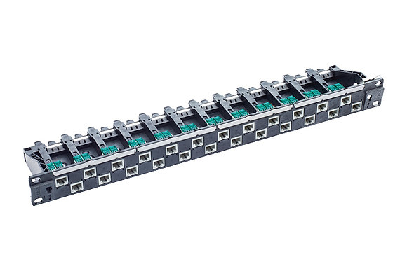 "19"" 1U PC Patch Panel 24xRJ45/u, Cat5e, black, full - P/N 812469 / Matrix Global Networks"