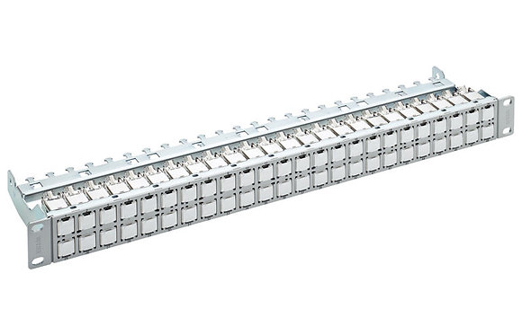 "19"" 1U Patch Panel HD EL ISO 48xRJ45/s, Cat6A EL, grey - P/N 837964 / Matrix Global Networks"