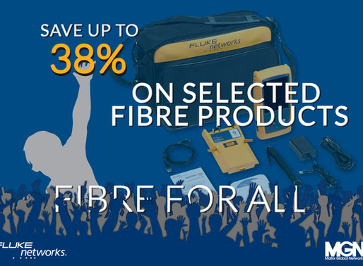 Save up to 38% on Fluke Selected Fibre Products... Call 01908 951000