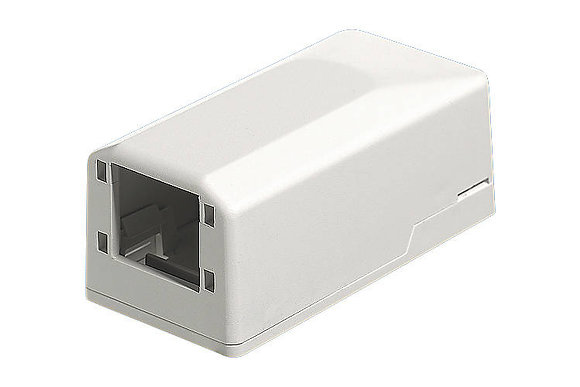 Mini Surface Mount Box 1-Port, white - P/N 303901 / Matrix Global Networks