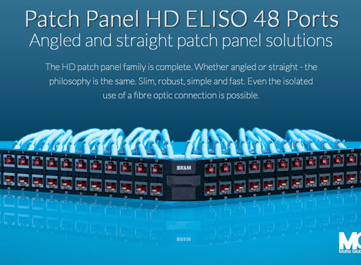 Space is crucial in every aspect, HD ELISO 48 ports... Angled and Straight patch panel solutions...