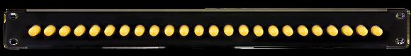 1U Black Front Panel - up to 24 fibres ST Singlemode