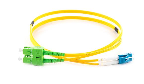 OS2 9/125 SC/APC-LC Duplex Fibre Optic Patchcord
