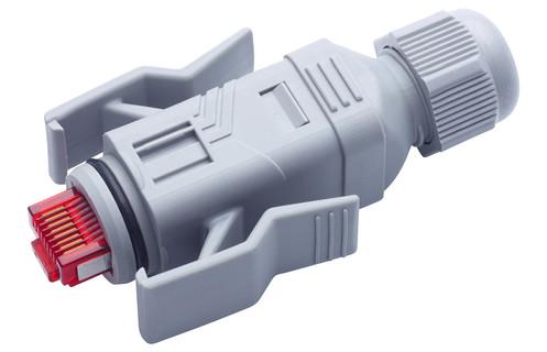 fm45 connector cat6a ip67, type 06, 4p, tia 568-a/b