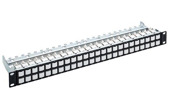 """19"""" 1U Patch Panel HD EL ISO 48xRJ45, Cat 6A - P/N 837959"""