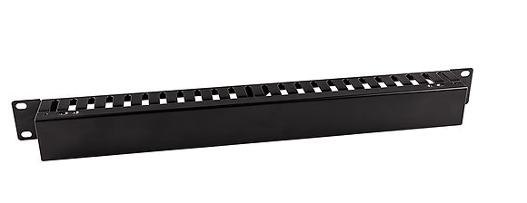 1U Cable Management Metal Dump Panel with cable entry - Closed | Matrix Global Networks