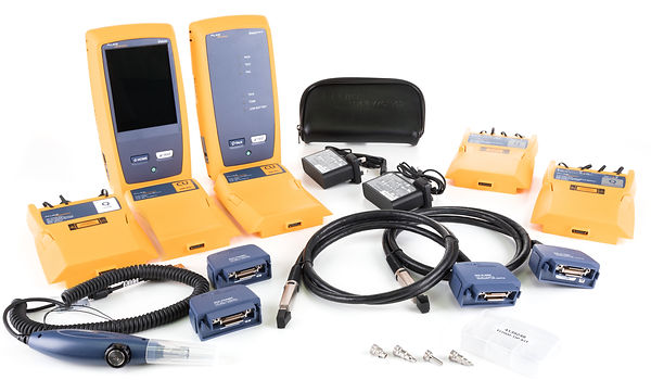 Fluke Networks Fibre and Copper Testers for Hire - DSX CableAnalyzer DSX5000, DSX8000, CertiFiber Pro, OptiFiber Pro, FiberInspector Pro, FI-3000, MicroScanner