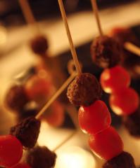 Stick de kafta com tomate sweet grape