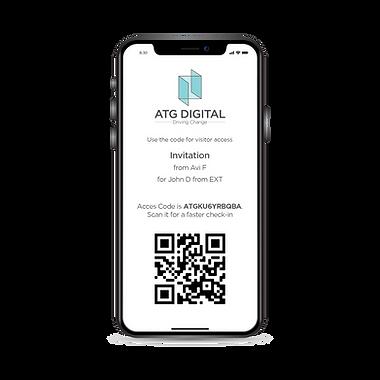 ATG Digital - Access Control - QR Code on Phone