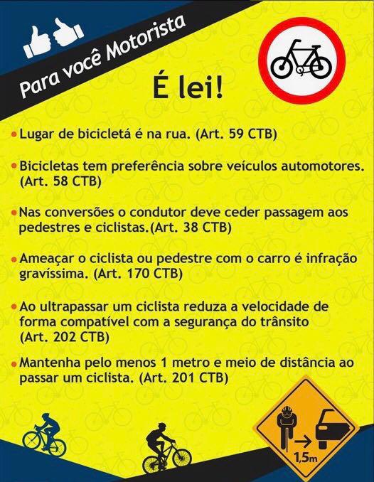 Para ciclistas...