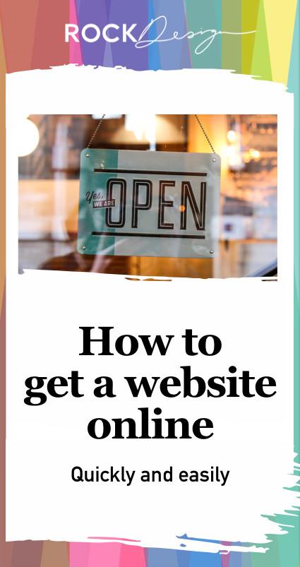 Open your website for business in a few easy steps, find a domain name, find a web host and get creative or hire someone to design your site.