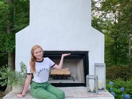 Our Outdoor Fireplace Reveal