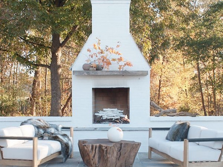 Why We Chose an Outdoor Fireplace, Our Inspiration, and a Peek at our Deck