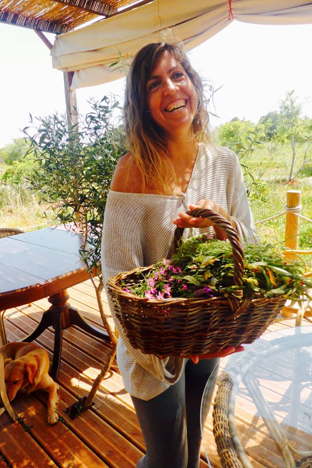 beautiful monica and flower basket