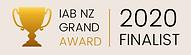 IAB 2020 finalist badge Manuka Honey of