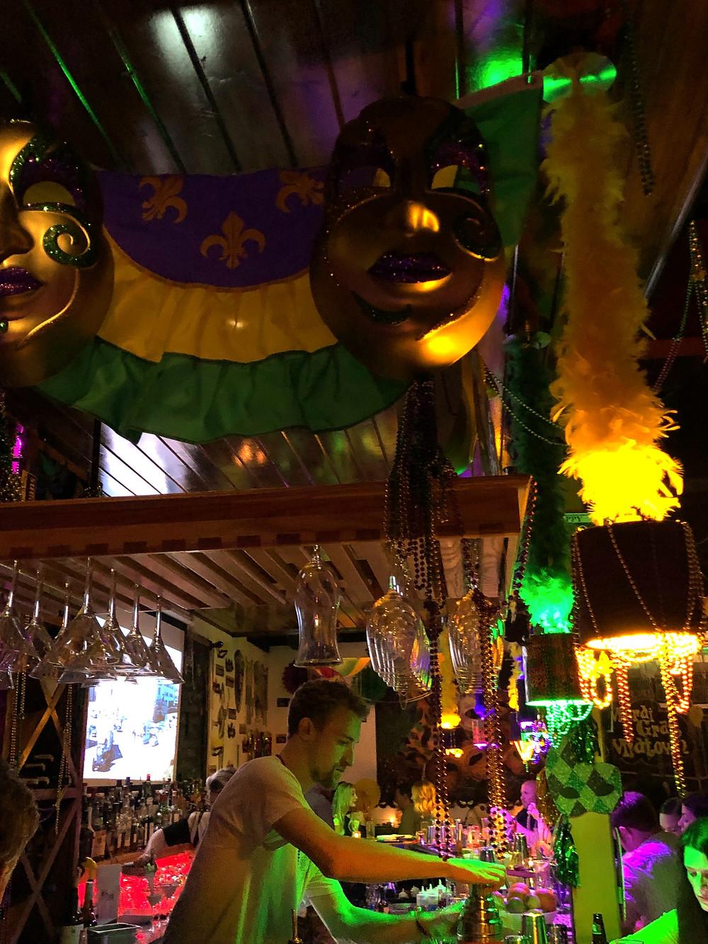 Inside Tapa Tapa's Mardi Gras Midtown pop-up.