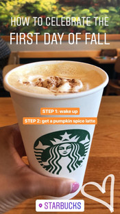 Pumpkin Spice Latte from Starbuck's