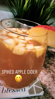 Homemade Spiked Apple Cider