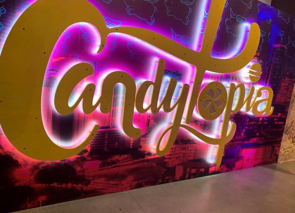 The Candytopia entrance.